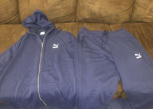 Size M blue puma sweat suit for Sale in The Bronx, NY
