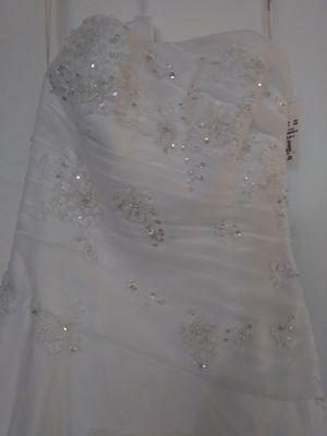 White Strapless Wedding Dress-Brand New for Sale in Phoenix, AZ