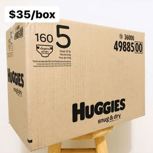 Size 5 (Over 27 lbs) Huggies Snug & Dry (160 diapers) - $35/box for Sale in Anaheim, CA