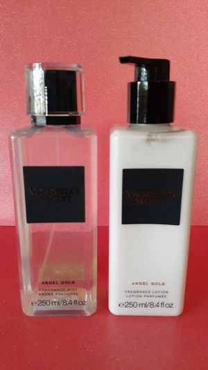 🖤 Victorias Secret 🖤 ANGEL GOLD - Fragrance Mist & Lotion 🖤 $50 SET 🖤 DISCONTINUED 🖤 Gifts for all occasions!🖤 for Sale in Pomona, CA