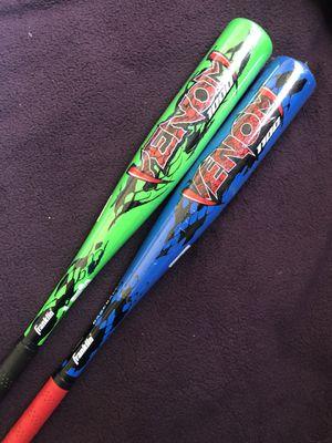 2 Rawlings Venom USA Tee-Ball Baseball Bats for Sale in Hacienda Heights, CA