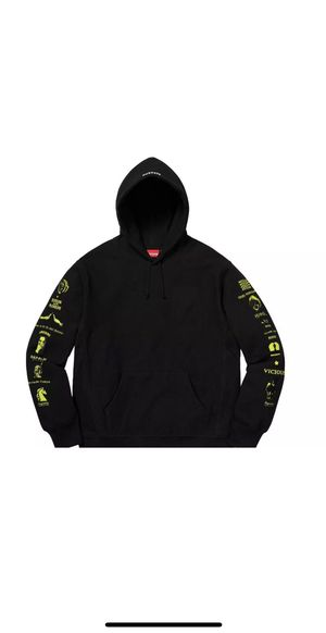 Supreme x Menace Hoodie Black Yellow Size M 100% Authentic for Sale in Irvine, CA