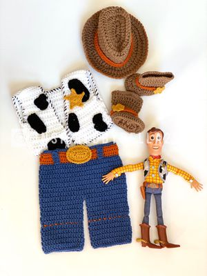 Woody crochet outfit, made to order, photography for Sale in Eastvale, CA