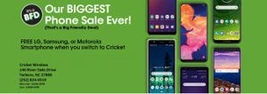 Cricket's BIGGEST SALE EVER! for Sale in Tarboro, NC