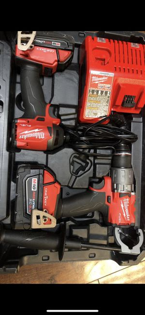 Milwaukee FUEL Impact & Fuel Hammer Drill One Key 2 batteries and charger (Newest version) for Sale in Solon, OH