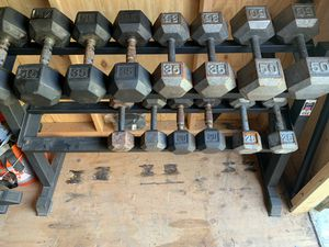 Dumbbells and rack for Sale in Lodi, CA