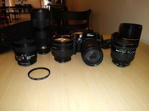 I have a set up a Nikon camera digital camera with six lenses I have a 60 mm I have a 70 mm to 180 mm I also have a 24 to 120 mm for Sale in Saint Petersburg, FL