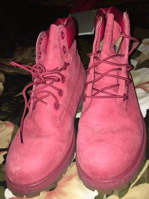 Almost mint condition Red Men's Timberland worn once or twice for Sale in New York, NY