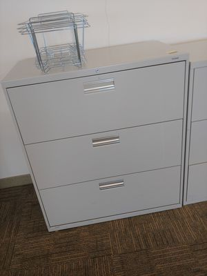 3 drawer steel lateral file cabinet for Sale in Norfolk, VA