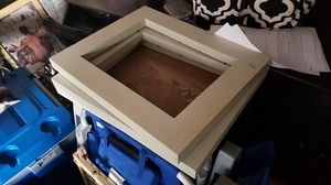 3 wood frames one piece of glass $10 will hold 15x11 photos. for Sale in Saginaw, TX