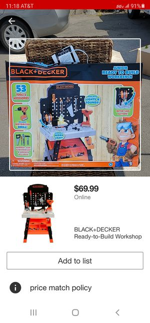 Black and Decker Kids Ready to Build Workshop for Sale in City of Industry, CA