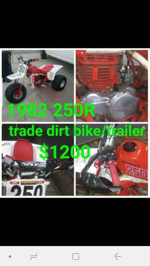 1982 Honda 250R 2-stroke lots of upgrades for Sale in San Bernardino, CA