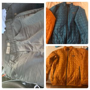2 Men's Nano Puff® Jacket by Patagonia and MENS twil jeans patagonia for Sale in Lake Forest, CA