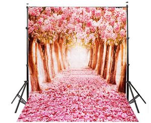 MOHOO 5x7ft Silk Photography Backdrop Cherry blossoms Street Studio Photography Backdrop Photo Background Beautiful Flower 1.5x2.1m for Sale in Cincinnati, OH