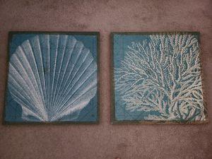 Beach wall art (seashell & sea fan) for Sale in Jacksonville Beach, FL