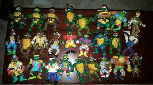 Vintage Ninja turtle toy lot of 27 for Sale in Richmond, VA