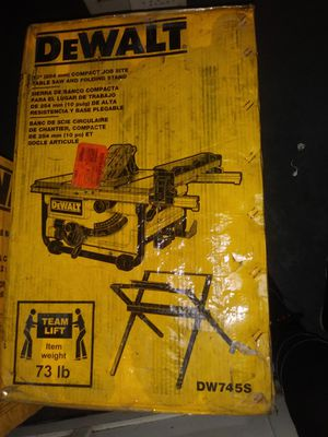 Dewalt 10 inch table saw with stand brand new for Sale in Pittsburgh, PA
