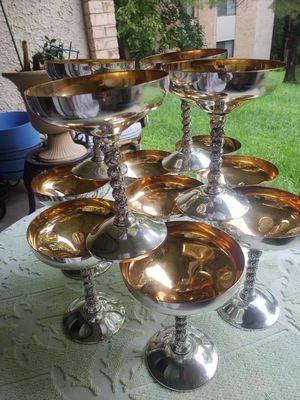 12 silverplated goblets in box for Sale in Silver Spring, MD