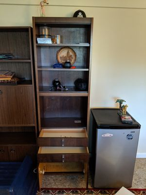 Liquor cabinet or bookshelve with storage for Sale in Annandale, VA