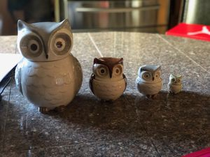 Owl jar set and measuring cup set for Sale in Martinez, CA