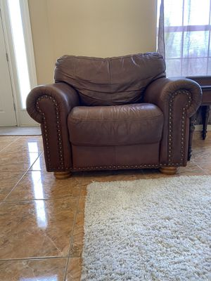 Egyptian leather sofa for Sale in Poinciana, FL