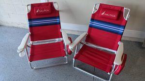 Nautica Folding Beach Chairs for Sale in Odessa, FL