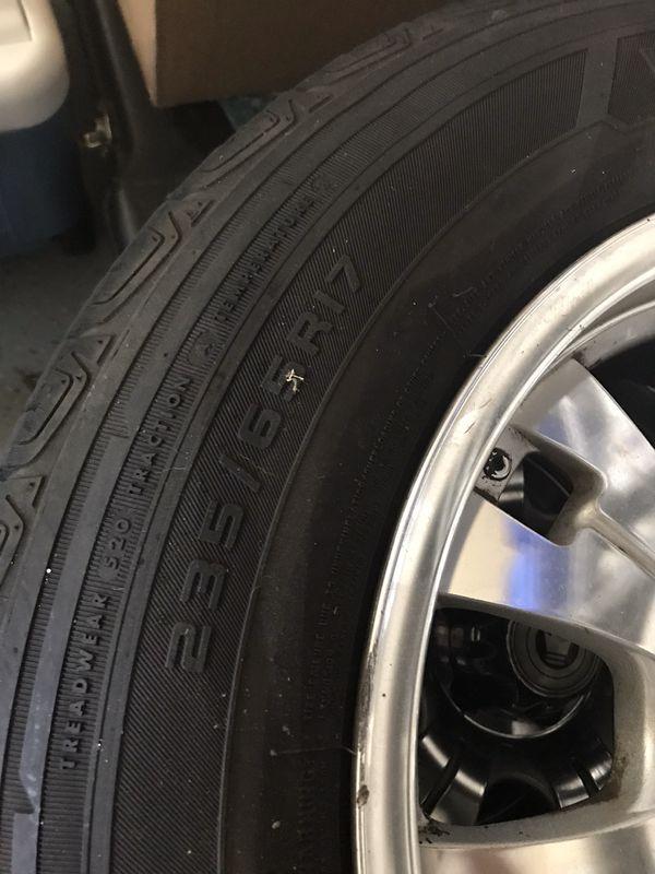 Jeep - 3 Firestone Destination Tires with Rims