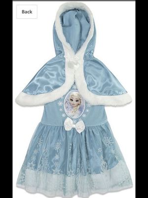 Halloween clearance sale ! Disney Elsa dress with hooded cape for Sale in Margate, FL