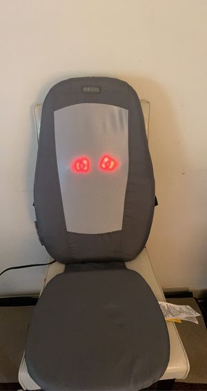 Massage Cushion with Heat Massage Chair Pad Kneading Back Massager for Home Office Seat use like new for Sale in South San Francisco, CA