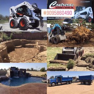 Pool dig, grading, demo, trash, concrete and sod removal for Sale in City of Industry, CA