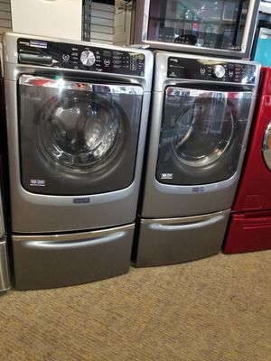 Maytag electric front load set washer and dryer in excellent condition for Sale in McDonogh, MD