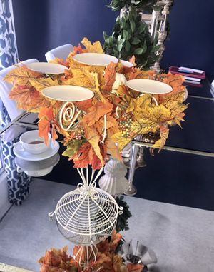 Harvest Fall table candle holder centerpiece for sale for Sale in Chula Vista, CA