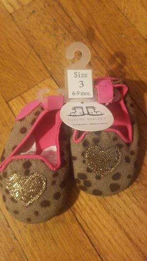 NWT Baby Girl Shoes (Size 3/6-9M) for Sale in Denver, CO