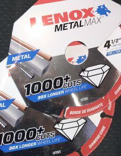 LENOX Metal Max 4 1/2 Diamond Edge Circular Saw Blades for Sale in Folsom,  CA