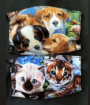 Child Face Mask Puppies & Kittens Pet Set of 2 for Sale in Phoenix, AZ