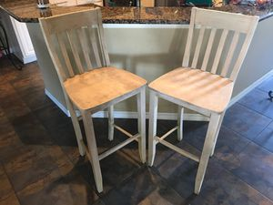 2 Wooden Stool Chairs for Sale in St. Cloud, FL
