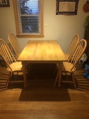 Birch table and (5) chairs for Sale in Reading, MA