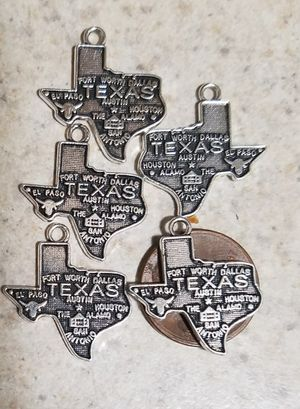 New Texas State Map and Towns Pendants Charms for Sale in Boston, MA