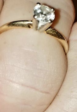 Diamond Ring Size 8 1/4 Cut Diamond Engagement Ring $400 OBO for Sale in Murfreesboro,  TN