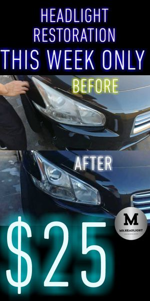 HEAD LIGHT RESTORATION $25 SPECIAL for Sale in Upland, CA