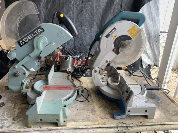 "Makita 10"" Miter Saw $100 DELTA Heavy Duty 10"" Miter saw $85-Come test them out"