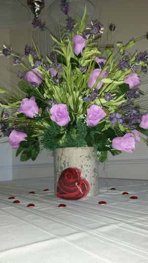 Handmade Purple Rose Silk Arrangement for Sale in Ashburn, VA