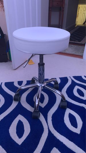 Swivel white stool for Sale in Alexandria, VA