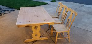 Wood table with three chairs for Sale in Centreville, VA