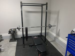 Weight set / Squat rack/ curl bar for Sale in Knoxville, TN