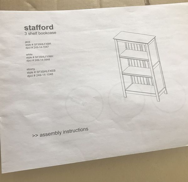 Bookcase with 3 shelves, white