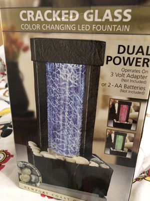 Tiny cracked glass color changing fountain for Sale in Boynton Beach, FL