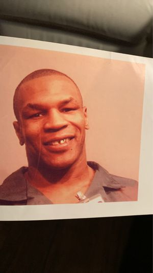 Mike Tyson getting booked in Gaithersburg,Maryland my brother in law was a jail Guard and he gave it to me 28 years ago. 5x4.5 inches for Sale in Tampa, FL