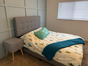 New in box king/queen/full size bed (no mattress) for Sale in Austin, TX