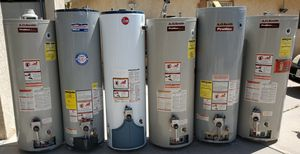40 and 50 gallon water heaters in excellent condition with professional installation and a one year warranty for Sale in Diamond Bar, CA